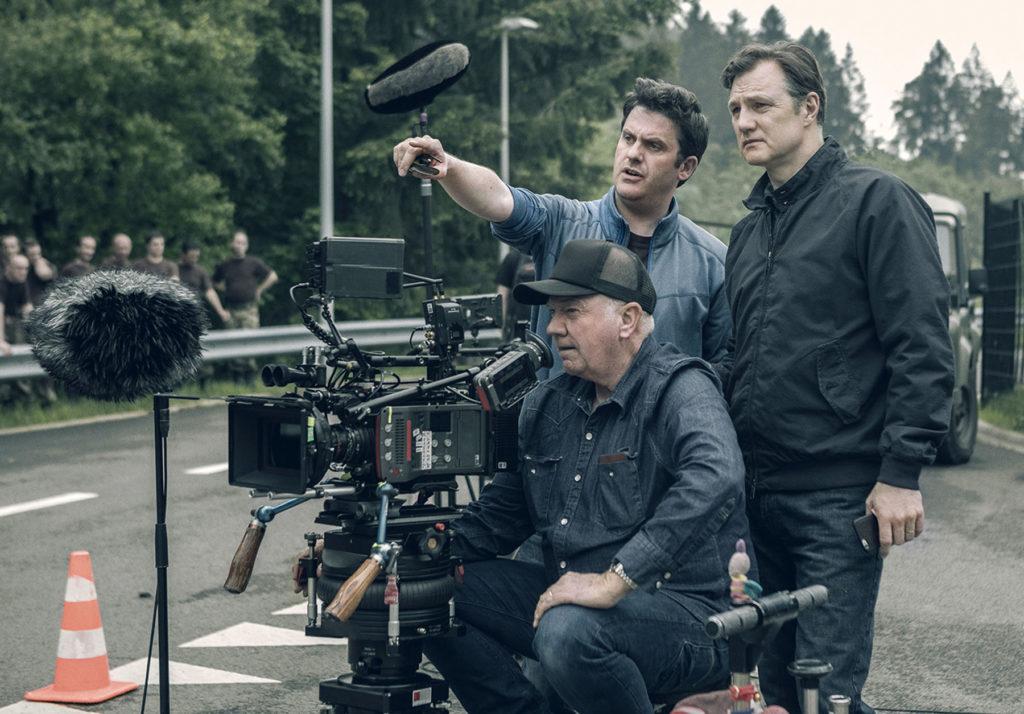 David Morrissey on set
