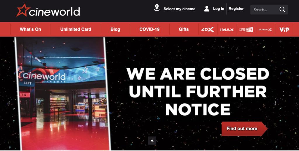 Cineworld announce closure