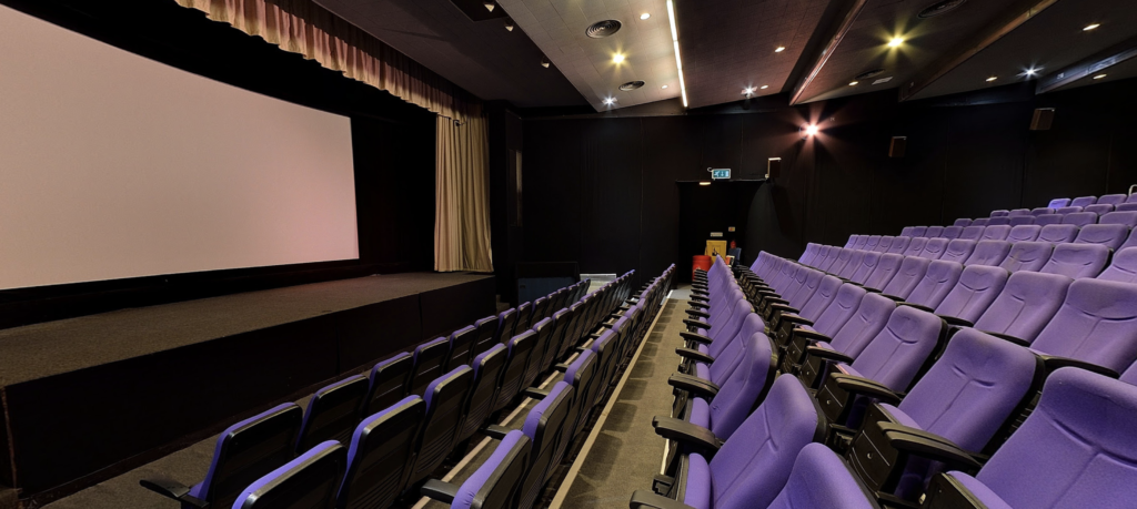 Ipswich Film Theatre auditorium showing seats with house lights on